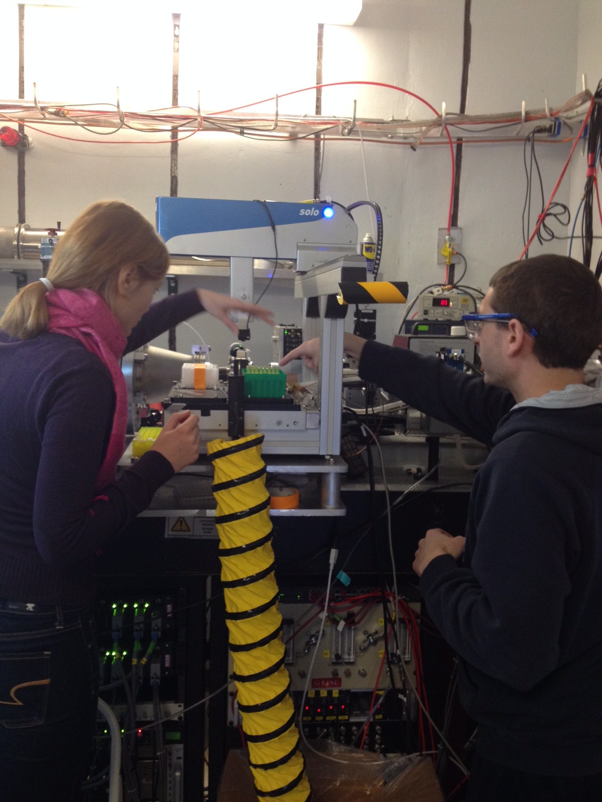 Alex and Sasha at Wilson Synchrotron Laboratory, Cornell University