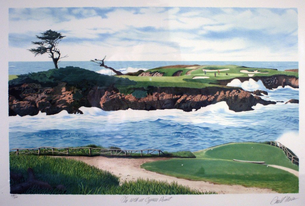 """The 16th at Cypress Point"" by Donald Moss"