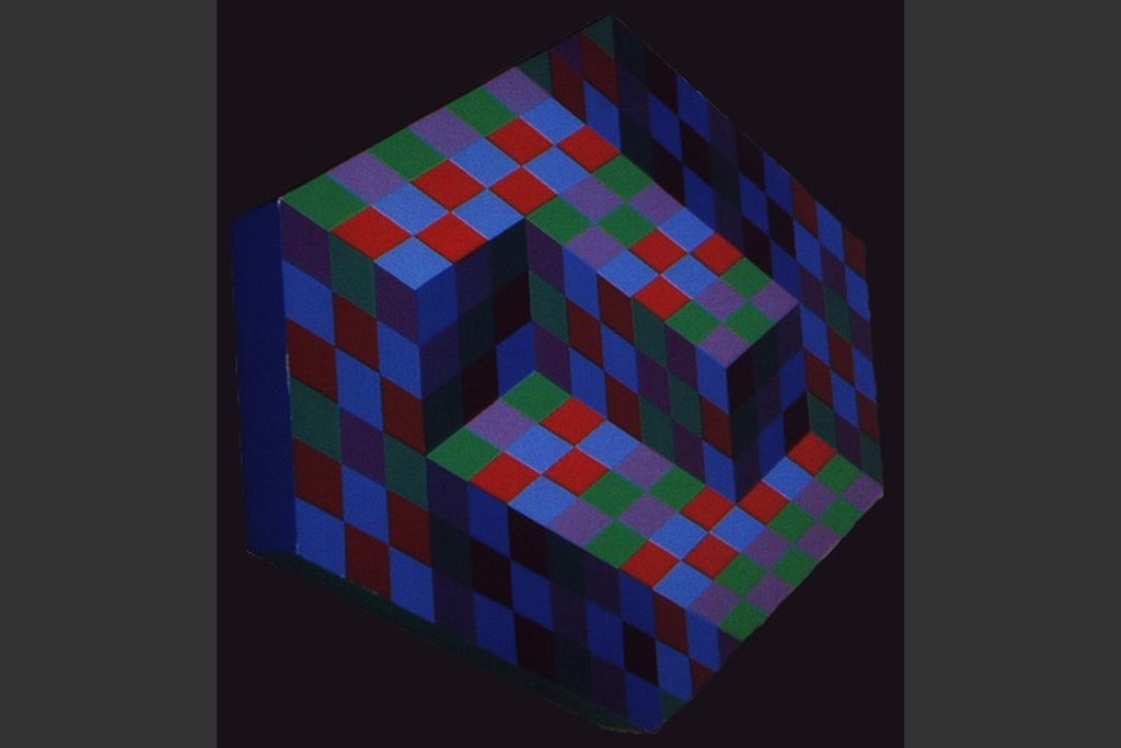 """Octal B"" by Victor Vasarely"