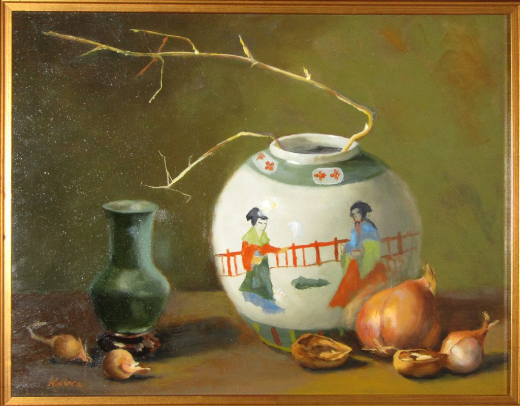 """Still Life with Shallots and Walnuts"" by Joan Wallace"