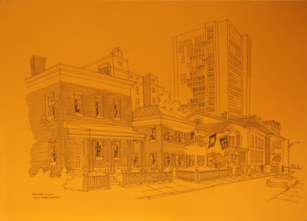 """Lewis Street, Hartford"" by Richard Welling"