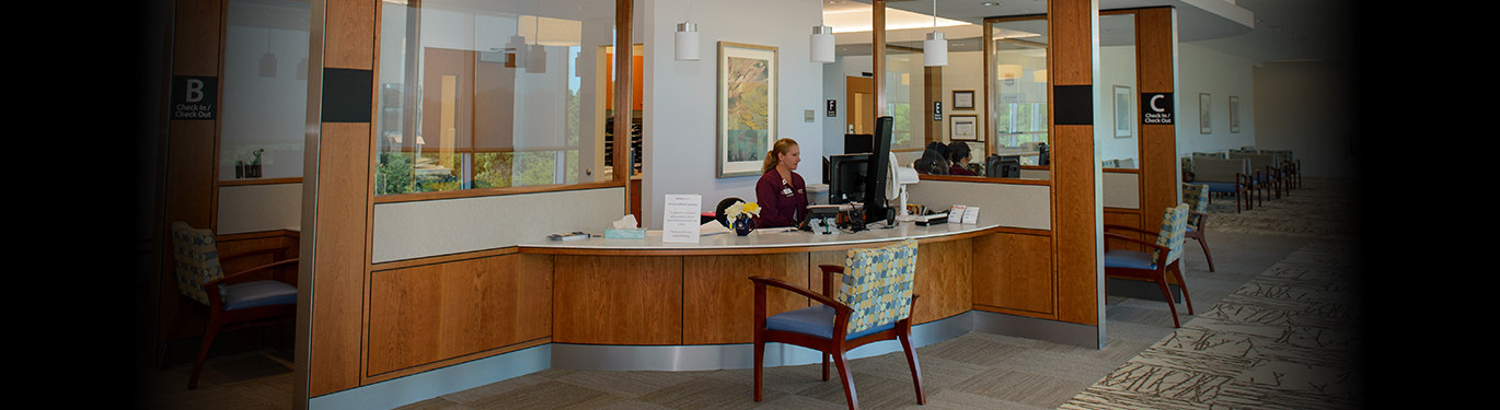 Women's Center check-in area