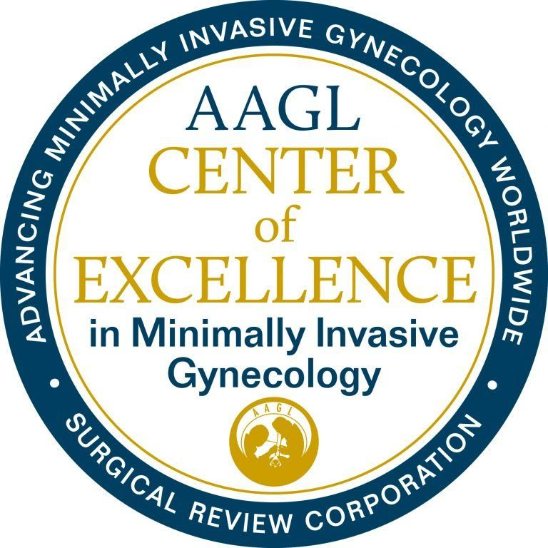 AAGL Center of Excellence in Minimally Invasive Gynecology seal