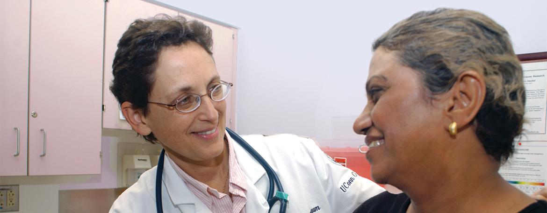 Dr. Susan Tannenbaum seeing a patient