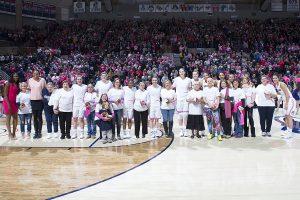 Breast cancer survivors meet UConn women basketball players
