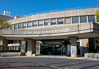 UConn Health Main Building entrance