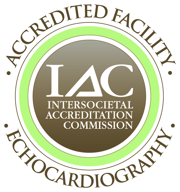 Intersocietal Accreditation Commission Echocardiography Accredited Facility badge