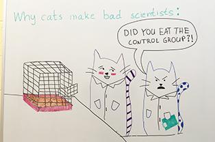 Control Group Cat Cartoon