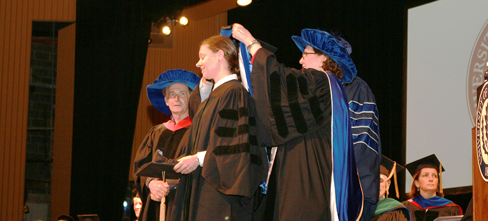 Hooding at the 2017 Graduation Ceremony