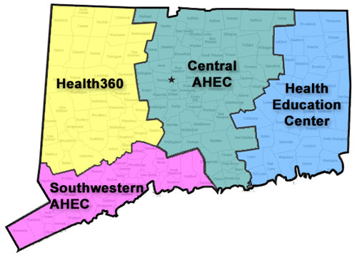 AHEC Regional Centers Map