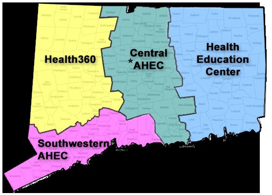 AHEC Regional Centers Map