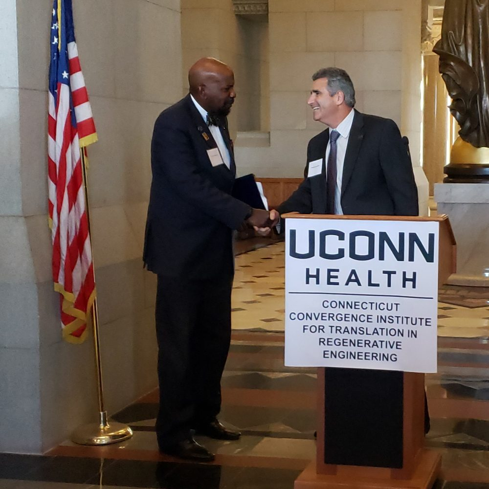 Dr. Laurencin and UConn President Designate Thomas Katsouleas