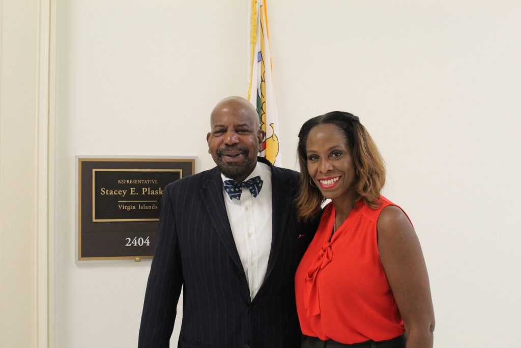 Dr. Cato Laurencin and Congresswoman Stacey Plaskett