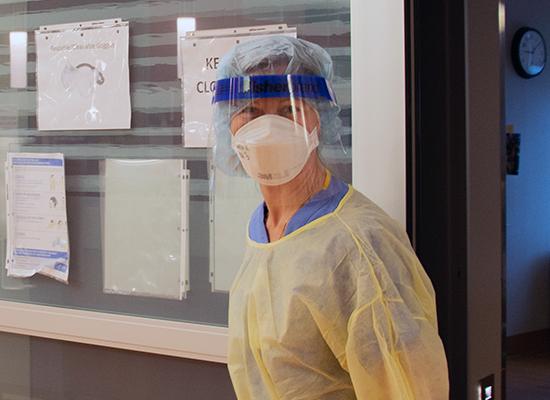 UConn Health provider wearing PPE