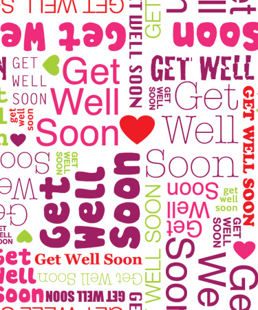 Get well soon word art