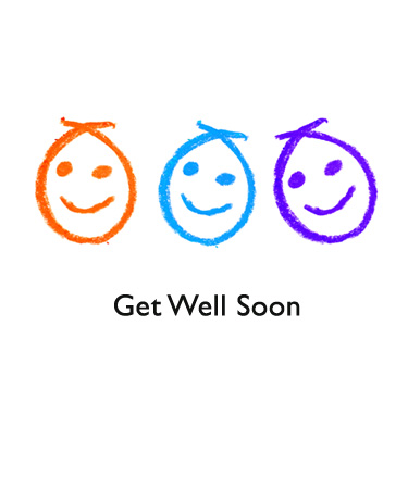 Get Well Soon smiley faces