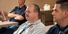 EMS providers attending a class