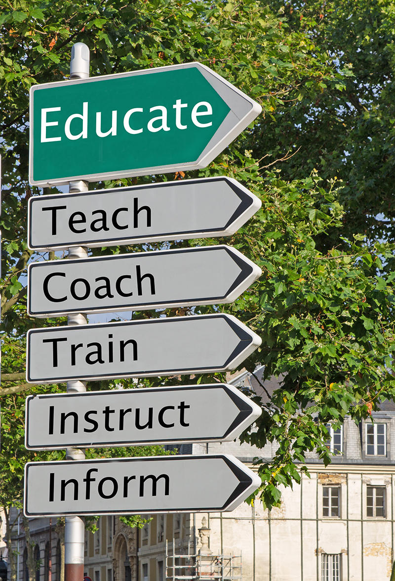 Educate street sign