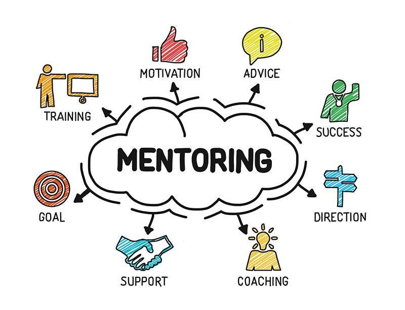Mentoring cloud illustration