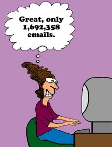 Cartoon about getting a million emails