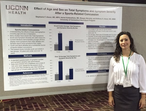 Resident Stephanie Alessi, PGY3, at the 2016 AAN Sports Concussion Conference in Chicago, July 2016