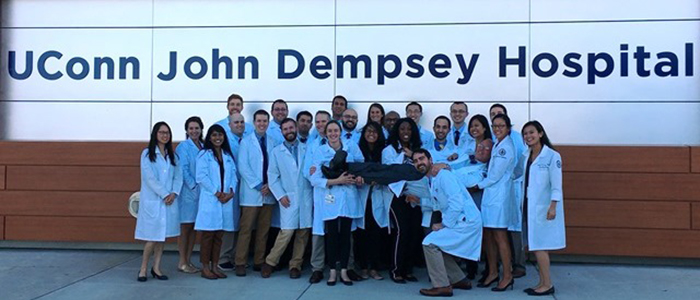 Anesthesiology Residents with Program Chair