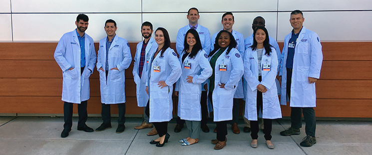 Emergency Medicine residents in their white coats
