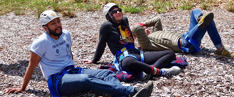 Emergency Medicine residents taking a break from climbing