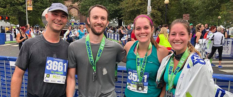 Emergency Medicine residents running the Hartford marathon