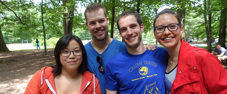 Emergency Medicine residents at a park