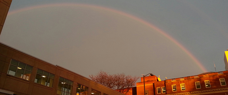 Rainbow over St. Francis Hospital and Medical Center