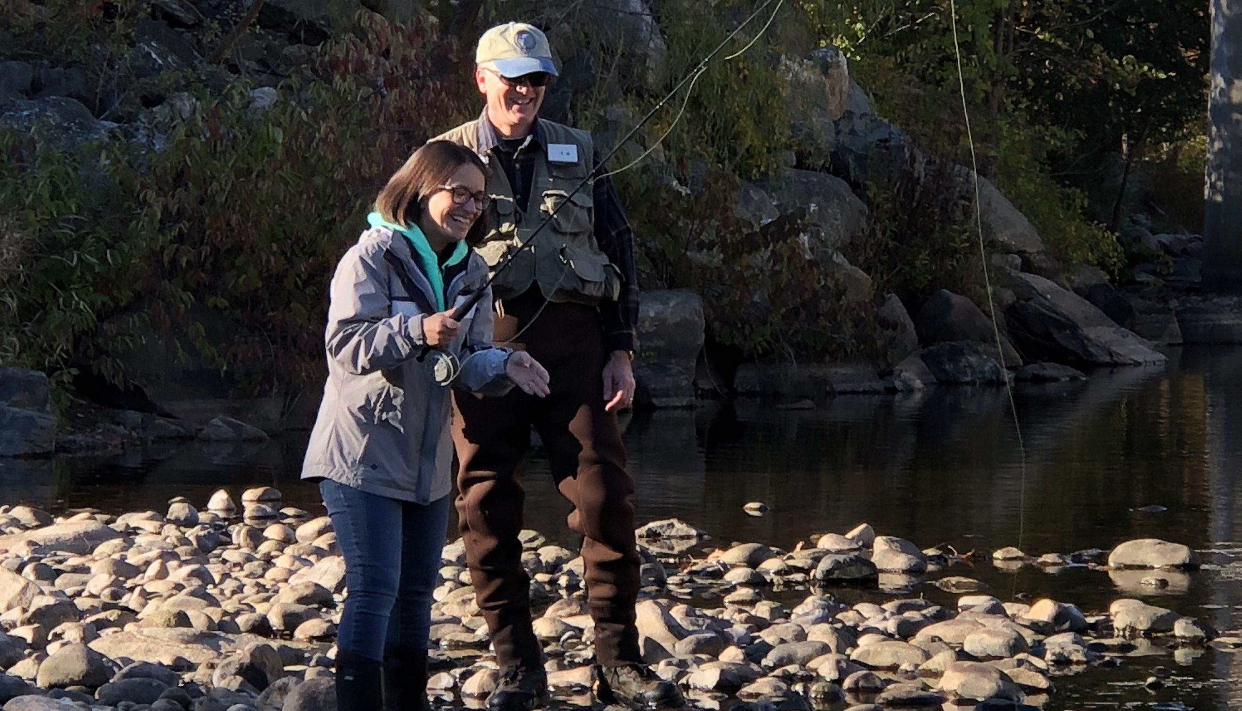 Fellow wellness activity – Fly Fishing lessons in the Farmington River