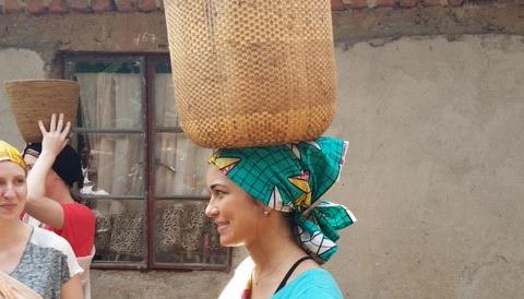 Dr. Palmer – Demonstrating cultural skills in Kisoro, Uganda