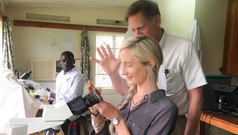 Dr. Snayd – Microbiology Lab at St. Francis Mutolere Hospital in Kisoro, Uganda