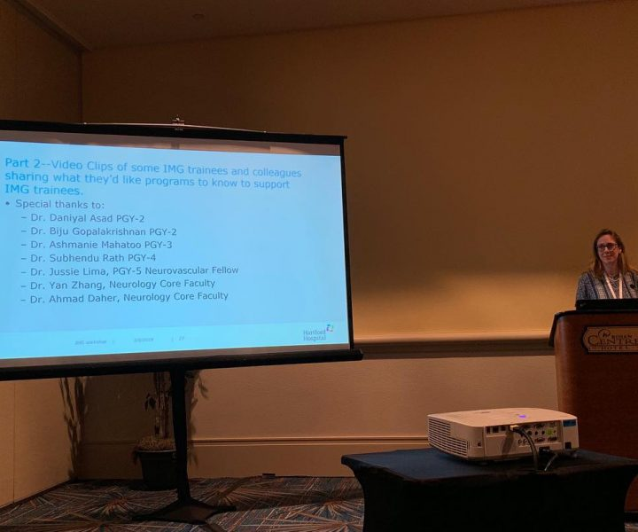 "Dr Schuyler's presentation ""IMG Trainees: How Programs can Support their Experiences and Success"" at the 2019 ACGME conference."