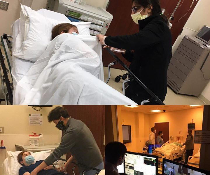 Seizure simulation training at Hartford Hospital's Center for Education, Simulation and Innovation