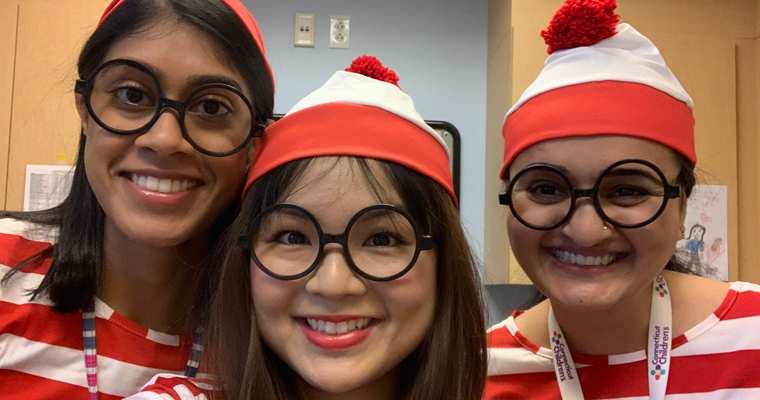 Fellows dressed up as Waldo