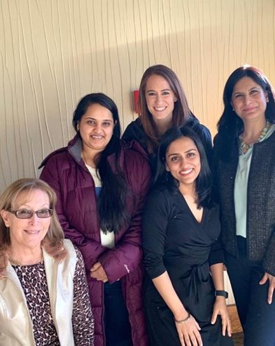 Dr. Paxel, Dr. Luthra and endocrinology fellows