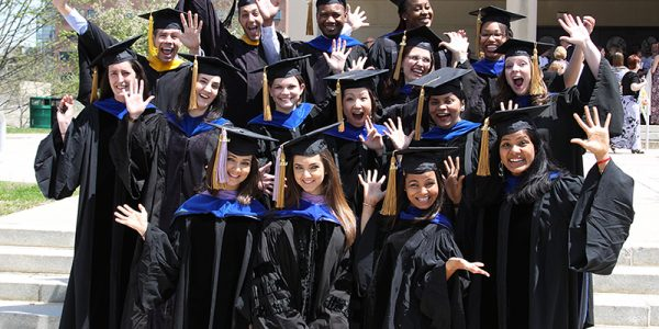 Biomedical Science PhD students at graduation, graduate student organization