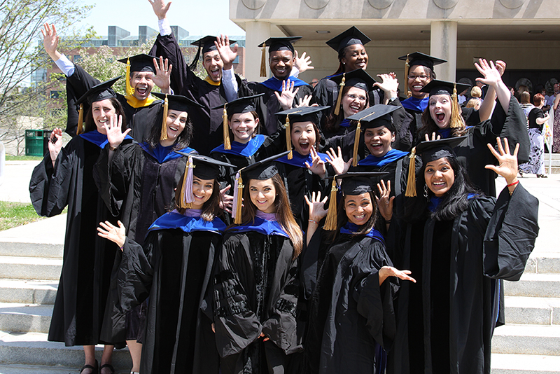 Biomedical Science PhD students at graduation, graduate student organization