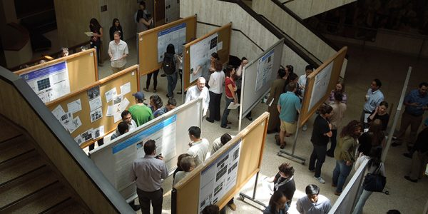 Overview of poster session at Graduate Student Research Day, graduate student organization