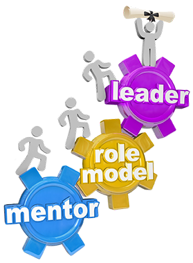 Mentor, role model, leader gears