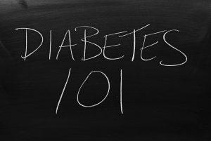"""""""Diabetes 101"""" on chalkboard"""