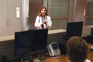 Dr. Jennifer Baldwin in hospital