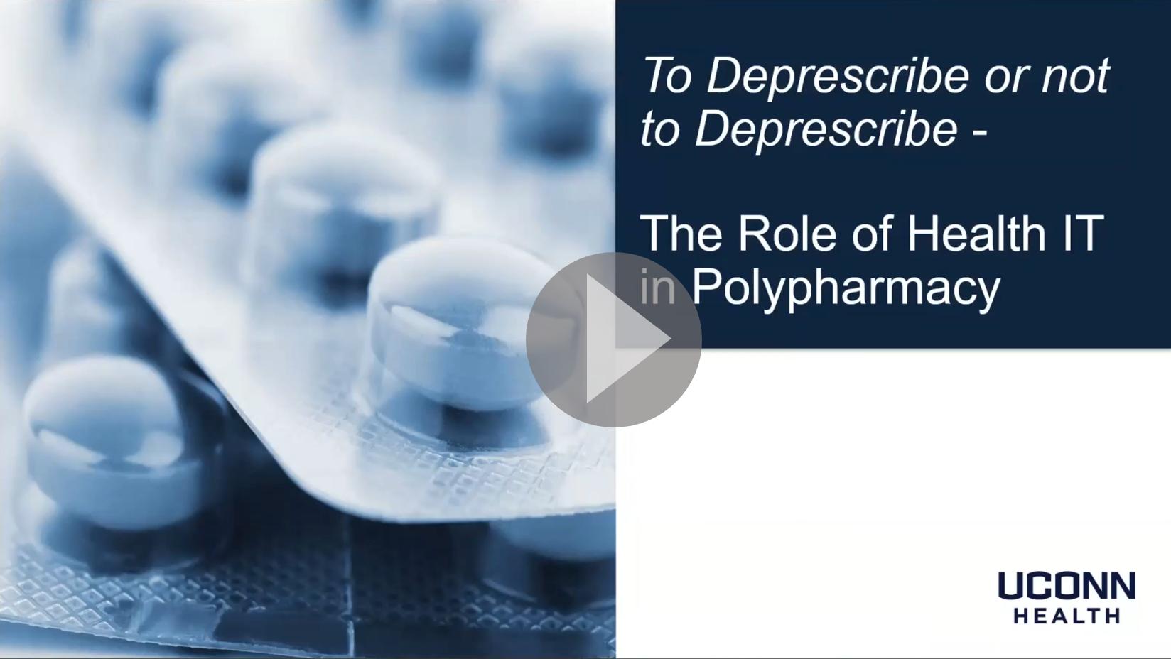To Deprescribe or Not to Deprescribe intro slide