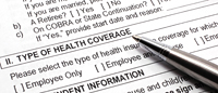 Health coverage form