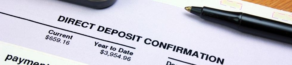 Direct deposit sheet