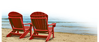 Adironondack chairs on the beach