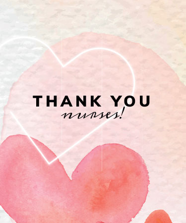 Thank You Nurses with hearts eCard