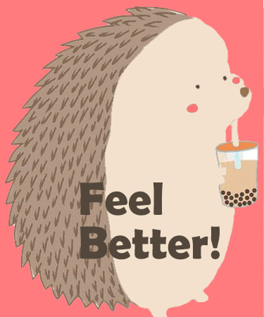 Feel Better and Porcupine in background eCard